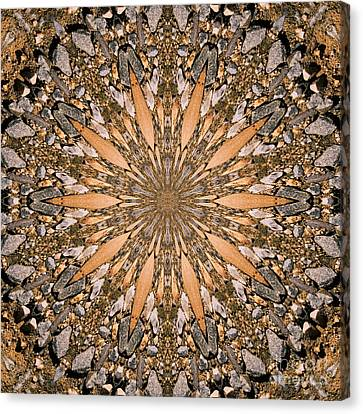 Gallery Wrap Canvas Print - Terracotta Stone Medallion 1 by Susan Smith