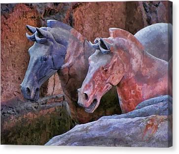Terracotta Warriors' Horses 1 Canvas Print