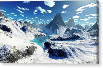 Terragen Render Of An Imaginary Canvas Print by Rhys Taylor