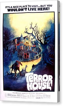 Terror House Aka Club Dead Terror At Canvas Print