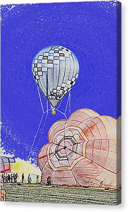 Tethered Hot Air Balloon Canvas Print by Thomas Woolworth