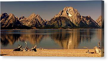Canvas Print featuring the photograph Teton Panoramic by Marty Koch
