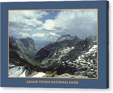 Teton Poster Canvas Print