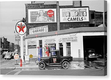 Texaco Station Canvas Print by Andrew Fare