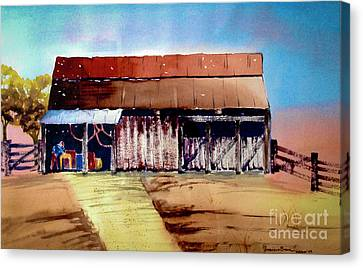Texas Barn Canvas Print by Genevieve Brown