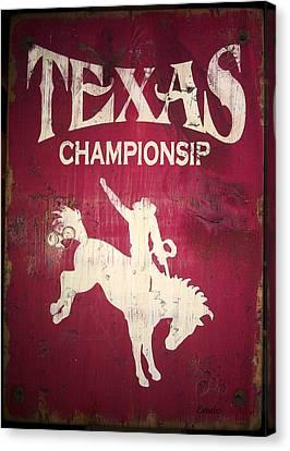 Texas Championsip Canvas Print by Eena Bo