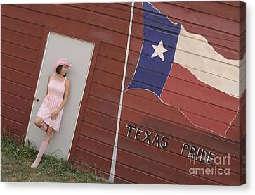 Canvas Print featuring the photograph Texas Pride by Sherry Davis