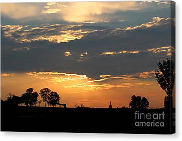 Canvas Print featuring the photograph Texas Sized Sunset by Kathy  White