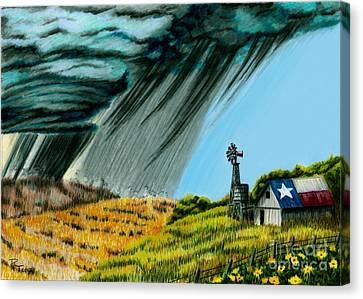 Texas Storm Canvas Print by Robert Thornton