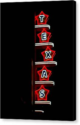Texas Theater Canvas Print by Kitty Geno