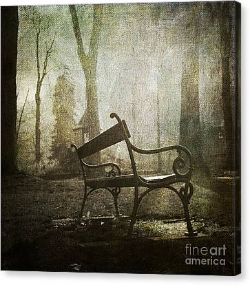 Textured Bench Canvas Print by Bernard Jaubert
