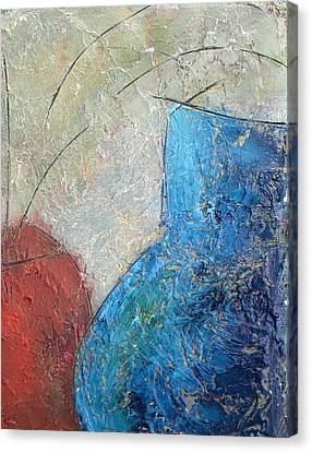 Textured Canvas Urns Canvas Print