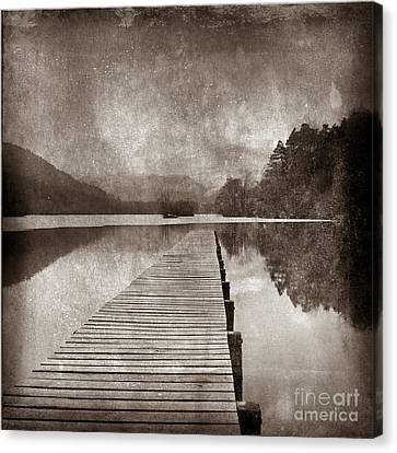 Textured Lake Canvas Print by Bernard Jaubert