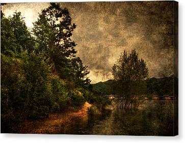 Textured Lake Canvas Print