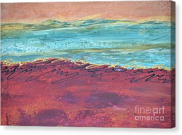 Textured Landscape 2 Canvas Print by Barbara Tibbets