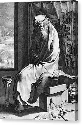Thales Of Miletus, Greek Polymath Canvas Print by Science Source
