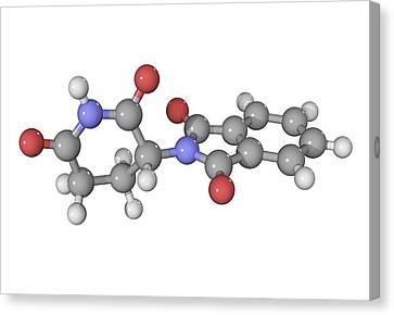 Thalidomide Drug Molecule Canvas Print by Laguna Design
