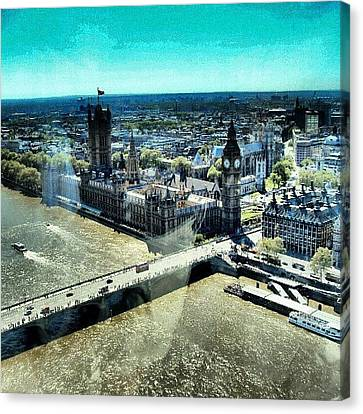 Thames River, View From London Eye | Canvas Print by Abdelrahman Alawwad