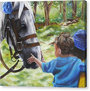 Canvas Print featuring the painting Thank You's by Lori Brackett