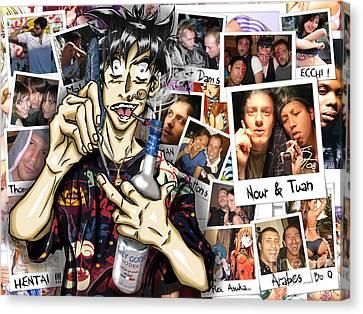 Hollaback Canvas Print - Thanks by Tuan HollaBack
