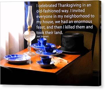 Thanksgiving Murders Canvas Print by Ian  MacDonald