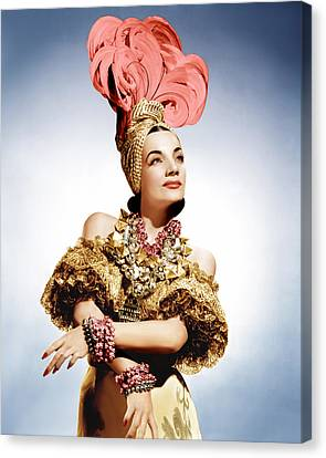 That Night In Rio, Carmen Miranda, 1941 Canvas Print by Everett