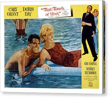 That Touch Of Mink, Cary Grant, Doris Canvas Print by Everett