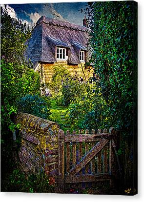 Thatched Roof Country Home Canvas Print by Chris Lord