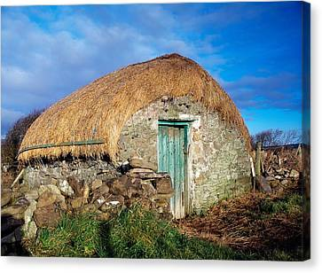 Thatched Shed, St Johns Point, Co Canvas Print by The Irish Image Collection