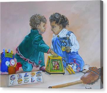 That's Mine Canvas Print by Joyce Reid