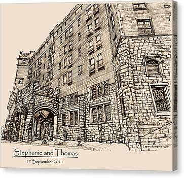 Thayer Hotel For Steph And Thomas Canvas Print by Building  Art