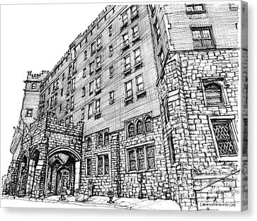 Thayer Hotel In Upstate Ny Canvas Print by Building  Art