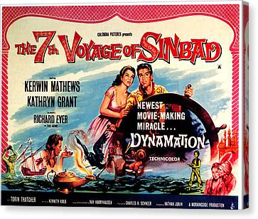 The 7th Voyage Of Sinbad, Aka The Canvas Print by Everett