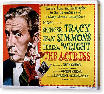 The Actress, Spencer Tracy, Jean Canvas Print by Everett
