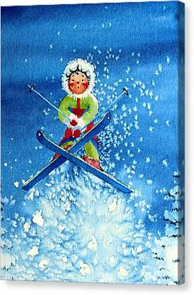 The Aerial Skier - 11 Canvas Print by Hanne Lore Koehler