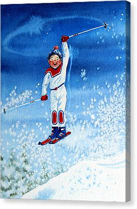 The Aerial Skier 15 Canvas Print by Hanne Lore Koehler