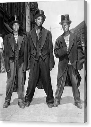 The African American Teenagers Canvas Print by Everett