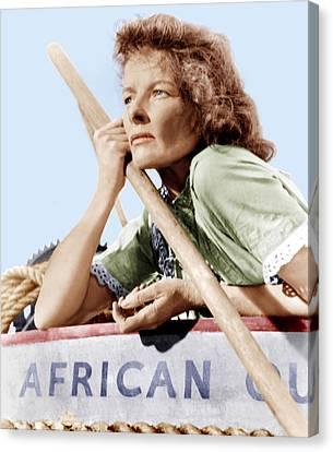 The African Queen, Katharine Hepburn Canvas Print by Everett