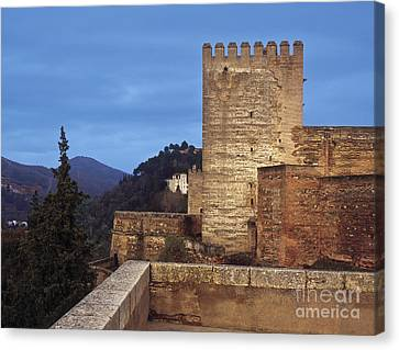 The Alcazaba The Alhambra Canvas Print by Guido Montanes Castillo