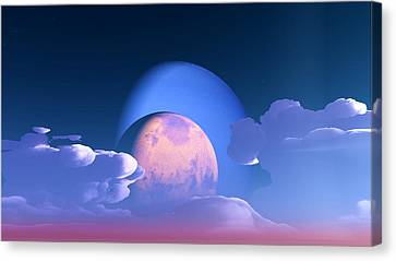 Canvas Print featuring the digital art The Alignment... by Tim Fillingim