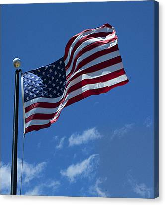 The American Flag Canvas Print by Gregory Scott