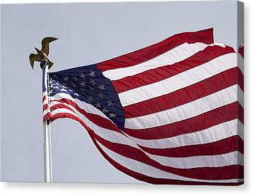 The American Flag Canvas Print by Tim Laman