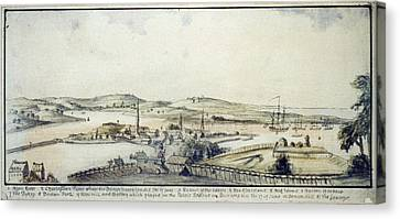 The American Revolution, View Canvas Print by Everett