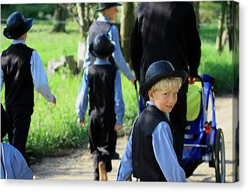 The Amish Boy Canvas Print by Dennis Pintoski
