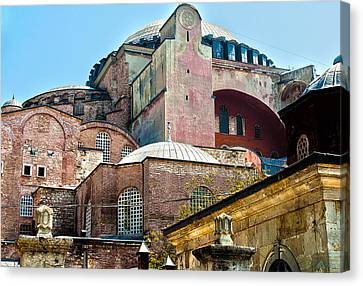 The Ancient Hagia Sophia Canvas Print by MaryJane Armstrong