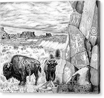 The Ancient Ones Canvas Print by Judy Garrett