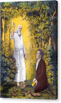 The Angel Moroni Delivering The Plates Canvas Print by Everett