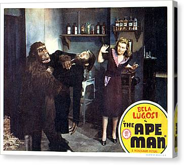 The Ape Man, From Left Emil Van Horn Canvas Print by Everett