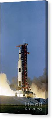 The Apollo 13 Space Vehicle Is Launched Canvas Print