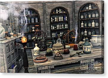The Apothecary Canvas Print by Jutta Maria Pusl
